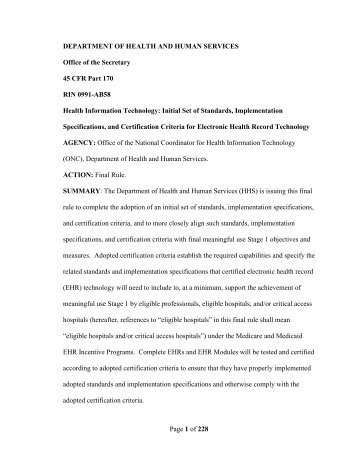 ehr onc final certification - Department of Health Care Services