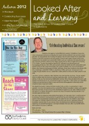 Virtual Sch newsletter Autumn 12_PDF version - Staffordshire ...