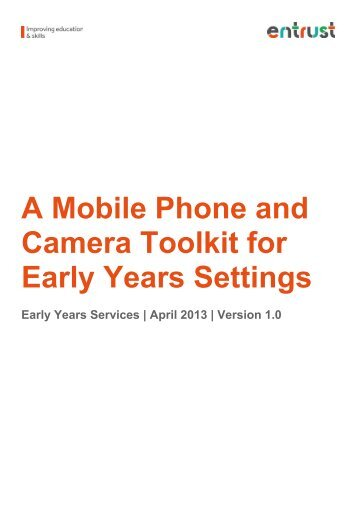 A Mobile Phone and Camera Toolkit for Early Years Settings