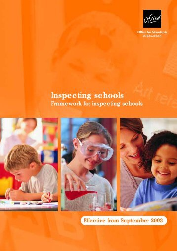 Framework for inspecting schools - Courtland School