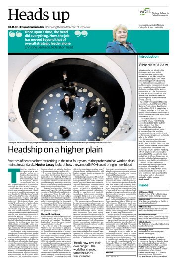 NPQH - Guardian Supplement - Dudley Virtual Resource Centre