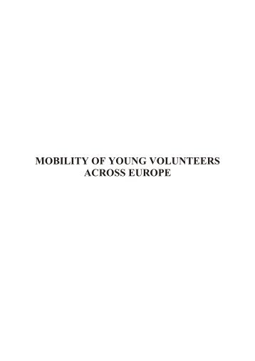 mobility of young volunteers across europe - EU-CoE youth ...
