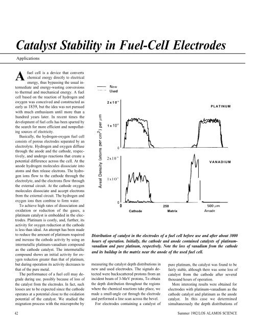 Catalyst Stability in Fuel-Cell Electrodes