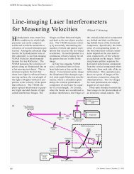 Line-imaging Laser Interferometers for Measuring Velocities