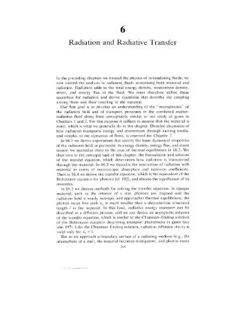Radiation and Radiative Transfer