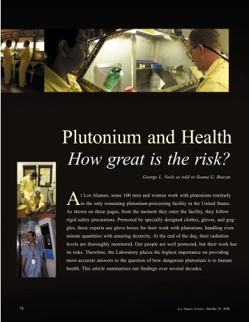 Plutonium and Health - Federation of American Scientists