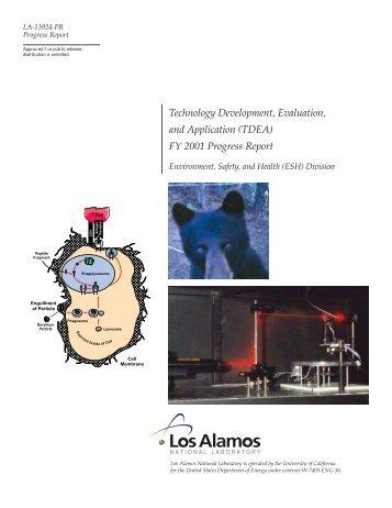 Technology Development, Evaluation, and Application (TDEA) FY ...