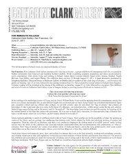 Exhibition Press Release (PDF) - Catharine Clark Gallery