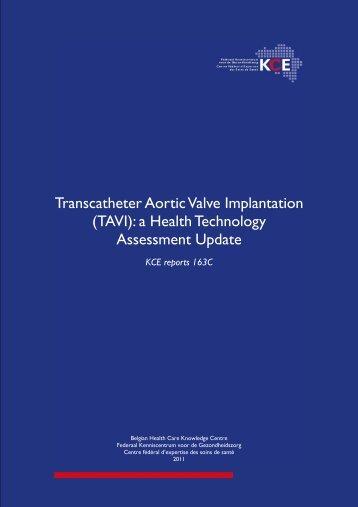 Transcatheter Aortic Valve Implantation (TAVI): a Health ... - KCE