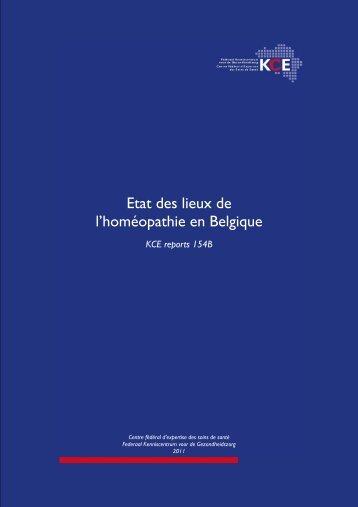 Etat des lieux de l'homéopathie en Belgique - KCE