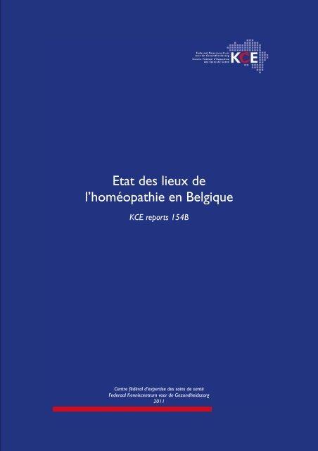 Etat Des Lieux De L Homeopathie En Belgique Kce