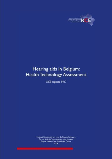 Hearing aids in Belgium: health technology assessment - KCE