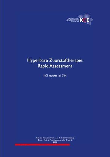 Hyperbare Zuurstoftherapie: Rapid Assessment - KCE