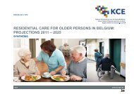 RESIDENTIAL CARE FOR OLDER PERSONS IN BELGIUM ... - KCE