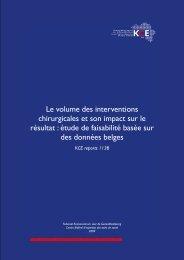 Le volume des interventions chirurgicales et son impact sur le ... - KCE