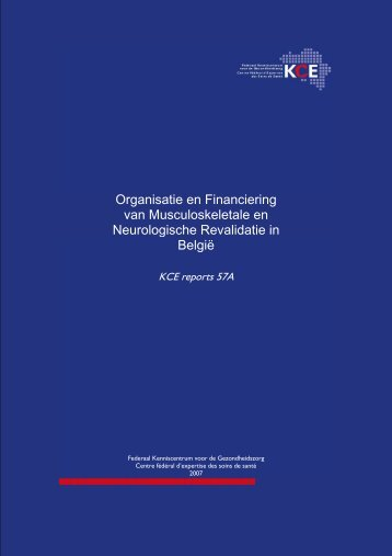The report is available in English with a Dutch summary - KCE