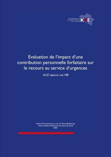 Télécharger le rapport (152 p.) - KCE