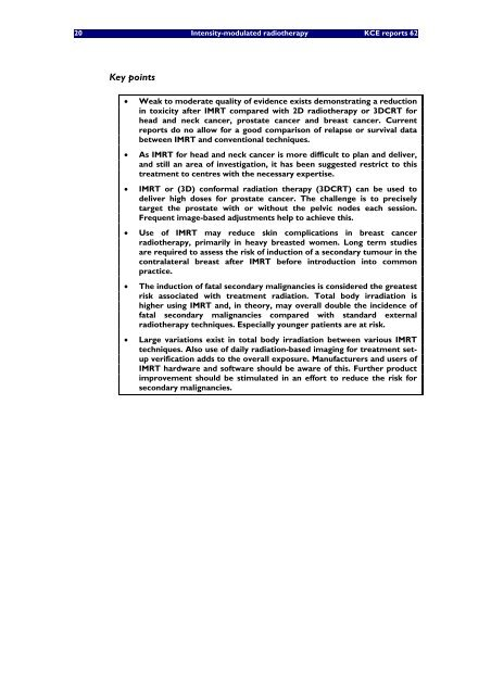 Intensity-modulated radiotherapy (IMRT) - KCE