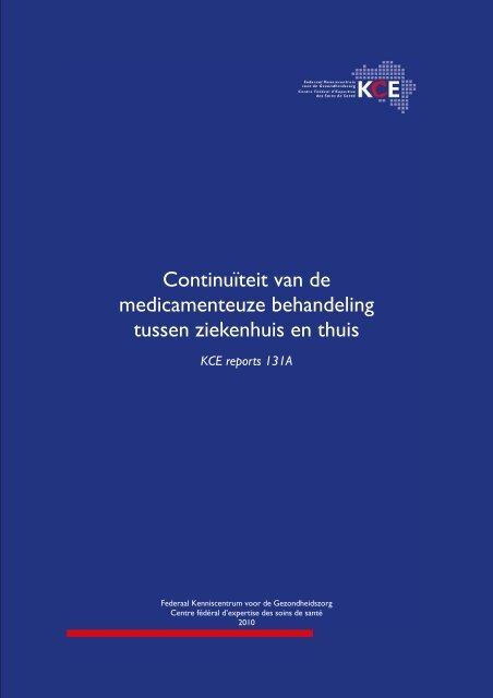 Continuïteit van de medicamenteuze behandeling tussen ...
