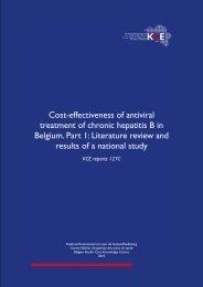 Cost-effectiveness of antiviral treatment of chronic hepatitis B ... - KCE