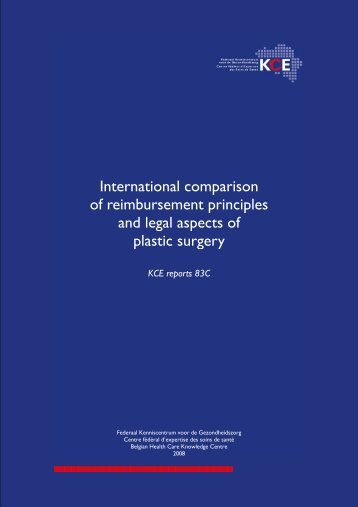 5 legal aspects in relation to plastic surgery - KCE