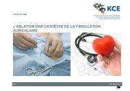 3. ablation par cathéter de la fibrillation auriculaire - KCE