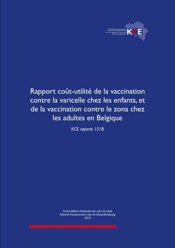 The report is available in English with a French summary - KCE