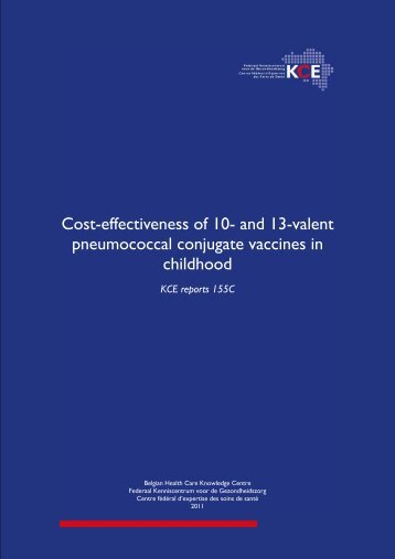 Cost-effectiveness of 10- and 13-valent pneumococcal ... - KCE