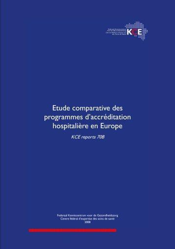Etude comparative des programmes d'accréditation ... - KCE