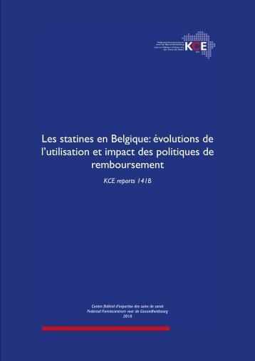 Les statines en Belgique: évolutions de l'utilisation et impact ... - KCE
