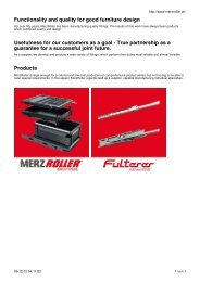 Functionality and quality for good furniture design ... - MERZ ROLLER
