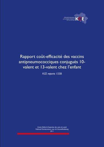 Rapport coût-efficacité des vaccins antipneumococciques ... - KCE