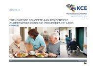 toekomstige behoefte aan residentiële ouderenzorg in belgië - KCE