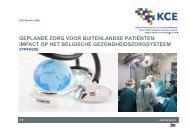 Geplande zorg voor buitenlandse patiënten: impact op het ... - KCE