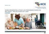 soins résidentiels pour les personnes âgées en belgique - KCE