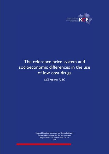 The reference price system and socioeconomic differences in ... - KCE