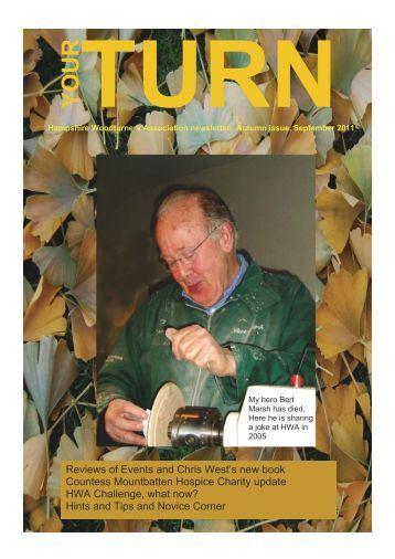 Your Turn Autumn 2011 - Hampshire Woodturners Association