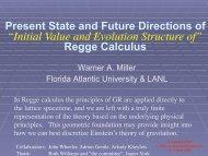 Slides - Institute for Gravitational Physics & Geometry