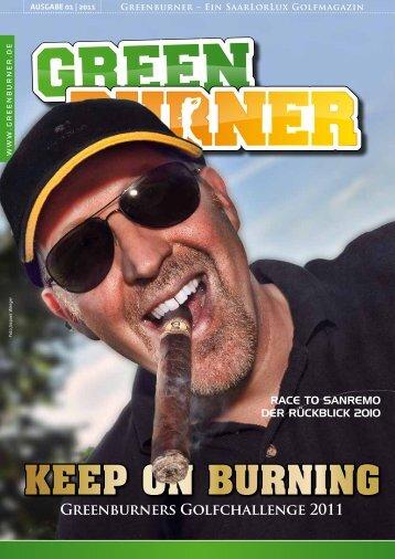 keep on burning greenburners golfchallenge 2011