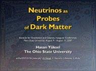 Neutrinos as Probes of Dark Matter - Penn State University