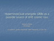 UHE Cosmic Rays from Semi-Relativistic Hypernovae