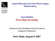 Latest Results from the Pierre Auger Observatory - Institute for ...