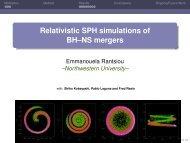 Mergers of BH-NS Binaries