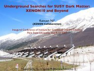 Underground Searches for SUSY Dark Matter: XENON10 and Beyond