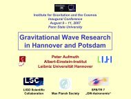 Gravitational Wave Research in Hannover and Potsdam