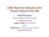 Ultrahigh Energy Neutrino Detection and Physics Beyond the ...