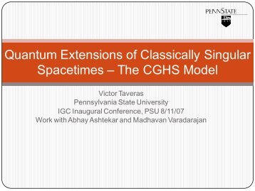 Quantum Extensions of Classical Singular Spacetimes – The CGHS ...