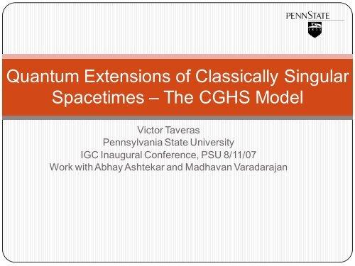 Quantum Extensions of Classical Singular Spacetimes – The CGHS ...