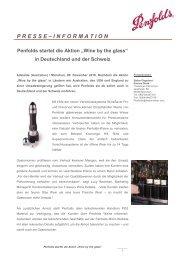 """Penfolds startet die Aktion """"Wine by the glass"""" in Deutschland und ..."""