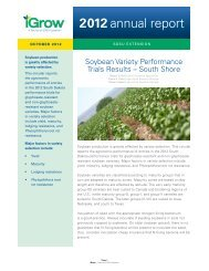 2012 Soybean Results Variety Performance Trials - South ... - iGrow